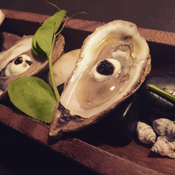 Oyster appetizer at The Pearl Eatery