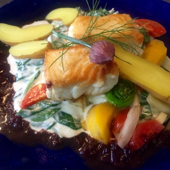 fresh fish and vegetables at The Pearl Eatery