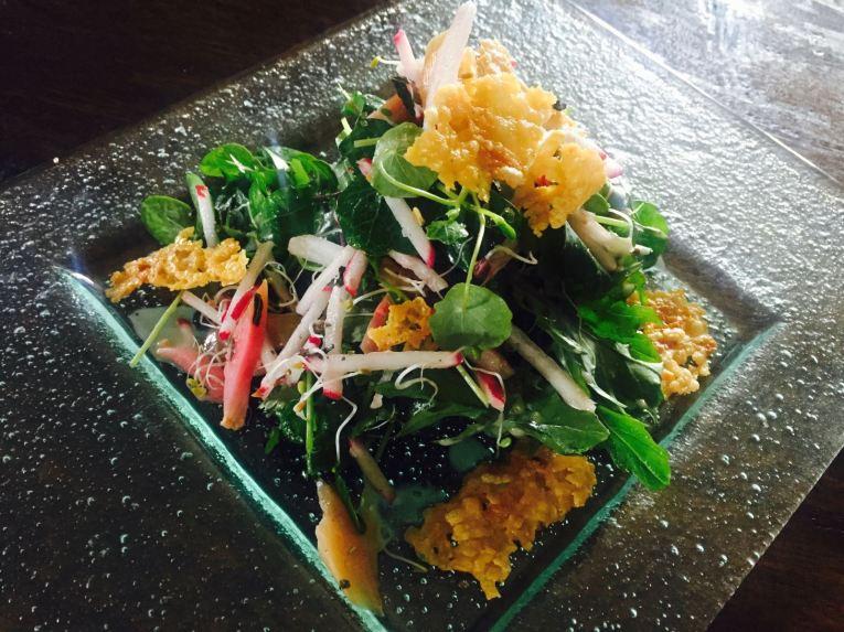 radish salad at The Pearl Eatery