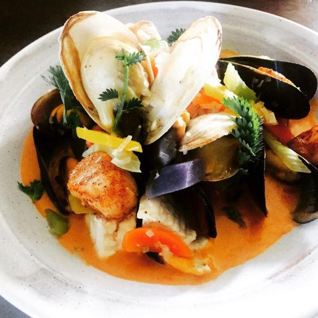 seafood pot au feu at The Pearl Eatery